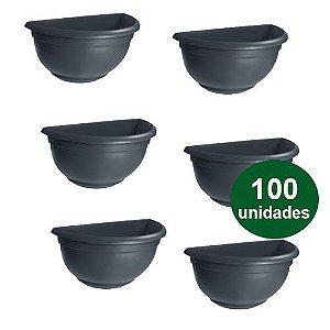 VASO DE PAREDE PEQUENO  PRETO - 100 UND