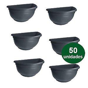 VASO DE PAREDE MEDIO  PRETO - 50 UND