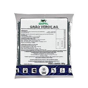 FORMICIDA GRÃO VERDE AG formigas cortadeiras em áreas de reflorestamento e cultivo agrícola- PCT 500GR Dipil