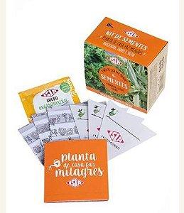 KIT SEMENTES PLANTA DE CASA FAZ MILAGRES (MANJERONA, ENDRO E SALVIA)