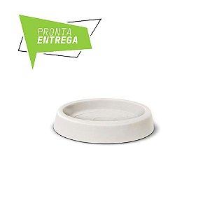 Prato Redondo Texturizado N26 Branco