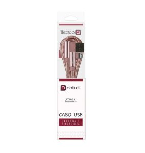 CABO USB IPHONE DOTCELL DC-1108 ROSA