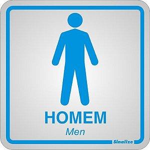 Placa em Alumínio Sanitário Masculino