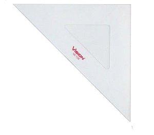 Esquadro de Acrílico 45º - 32cm