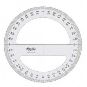 Transferidor 10 cm / 360° Trident
