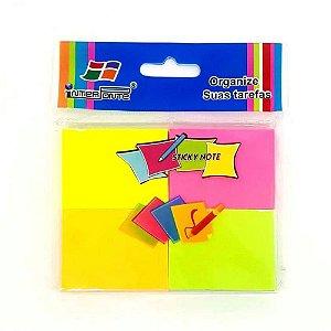 Bloco adesivo 37x50 100 fls colorido Post-it