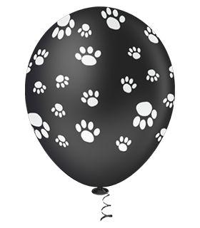 Balão Patinhas Preto | 4 unidades
