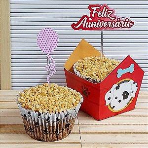 Pupcake + Caixinha Cachorrinho  | 4 unidades