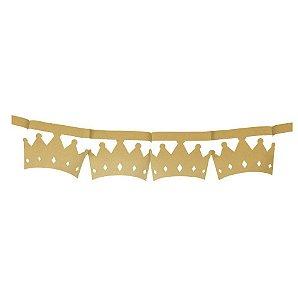 Faixa Decorativa Coroa Ouro