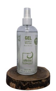 Gel Lavanda e Melaleuca uNeVie álcool 70% (°GL) 219ml vidro com dosadora *OUTLET*