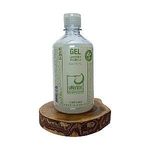 Gel Lavanda e Melaleuca uNeVie álcool 70% (°GL) 500ml com tampa fliptop