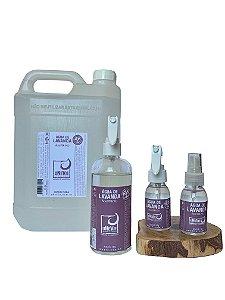 Kit bolso e casa vidro com refil 5 litros Água de Lavanda - Álcool 70%(°GL)