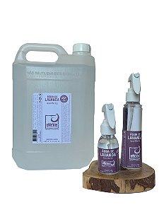 Kit bolso e casa com refil Água de Lavanda - Álcool 70%(°GL)