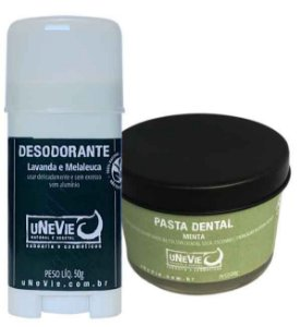 Kit Privé Menta uNeVie | desodorante e pasta dental natural