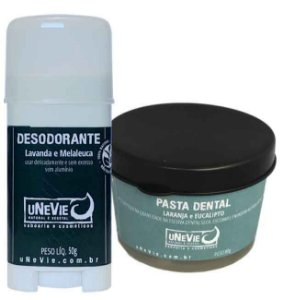 Kit Privé Laranja e Eucalipto uNeVie | desodorante e pasta dental natural