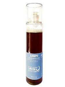 Xampu Líquido Lavanda, Alecrim e Salvia uNeVie - redução de resíduos do couro cabeludo