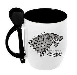 Caneca Game Of Thrones - House Stark (c/ colher)