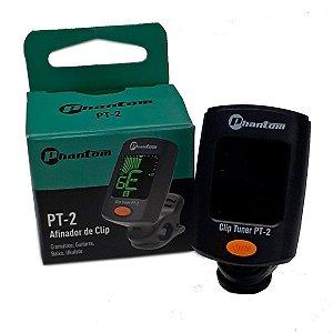 Phantom Afinador Digital Cromático de Clip Preto PT-2