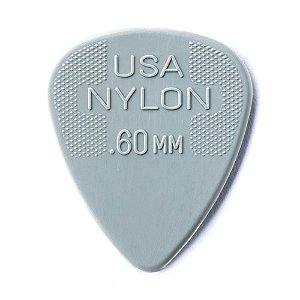 Dunlop Palheta Nylon Cinza Claro 0.60 MM 1980