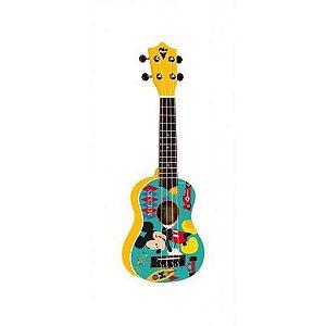 PHX Ukulele Soprano Infantil Amarelo Mickey UKP-MK1