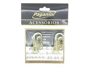 Paganini Prendedor Partitura e Hinário Clipets Tuba PPT089