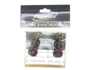 Paganini Prendedor Partitura e Hinário Clipets Violino PPT084