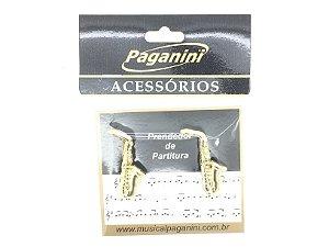 Paganini Prendedor Partitura Hinário Clipets Saxofone PPT085