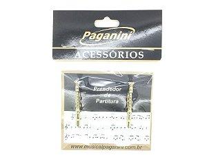 Paganini Prendedor Partitura e Hinário Clipets Flauta PPT090