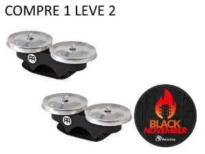 Meinl Finger Jingle Steel Chimbal de Dedo Cajon FJS1SBK Full