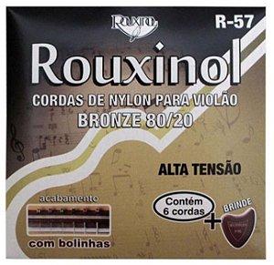 Rouxinol Encordoamento Violão Nylon Tensão Alta com Bolinha R-57