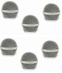 Pell 6 Globo Grelha Microfone Shure Sm58 Sm 58 Beta 58 A