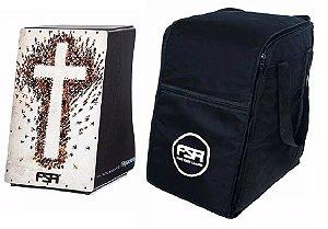 Kit Fsa Cajon Gospel FG1506 Cruz Cap Dupla Esteira 24 Fios + Bag