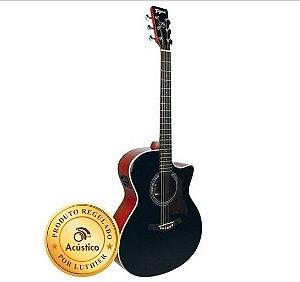Tagima Violão Medium Jumbo Eletro Acústico Woodstock Acoustic Series TW-29BK
