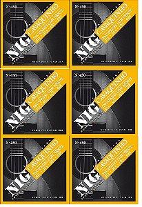 Nig Kit Com 6 Encordoamento P/ Cavaquinho N-450 C/ Bolinhas