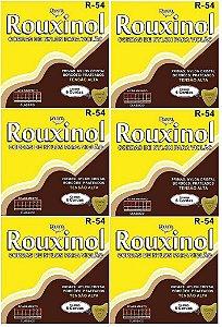Rouxinol Kit Com 6 Encordoamento Violão Nylon T. Alta R-54