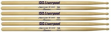 Kit Com 3 Pares De Baquetas Liverpool Hickory 5a HY5AM