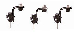 Ask Kit Com 3 Clamp Para Microfone Bateria E Percussão B10