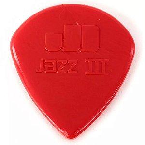 Dunlop Palheta Nylon Jazz III Vermelha 1827