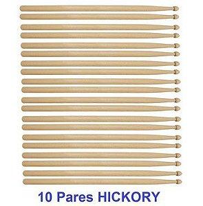 Liverpool 10 Pares De Baqueta Hickory 5B Pta Mad Sem Logo