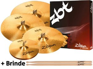 Zildjian Kit de Pratos ZBT Five 14HH 16CRASH 18CRASH 20RIDE