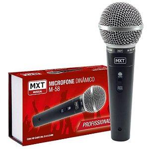 Mx Microfone Dinâmico C/ Fio M-58 Prof. C/ Cabo 3m 541113