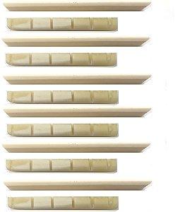 Juk Kit 6 Rastilho E 6 Pestana 100% Osso Moldado Para Violão