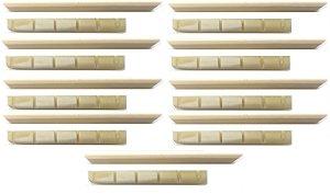 Juk Kit 9 Rastilho E 9 Pestana 100% Osso Moldado Para Violão