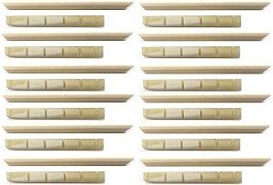 Juk Kit 12 Rastilho E 12 Pestana 100% Osso Moldado P/ Violão