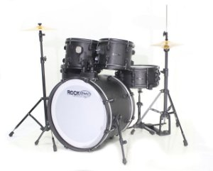 Rmv Bateria Rock 10/12/14/20/14cx + Estante + Pratos + Pedal