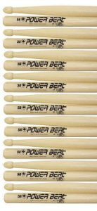 Los Cabos Power Beat Kit 9 Pares De Baquetas 5a Hickory