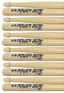 Los Cabos Power Beat Kit 6 Pares De Baquetas 5b Hickory