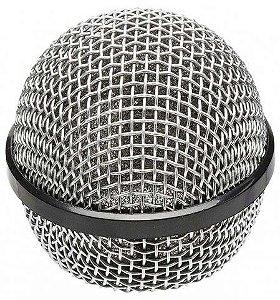 MX Globo para Microfone SM58 Cinza e Preto