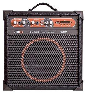 LL Audio Caixa Amplificada Multiuso TRX8 30W Bluetooth Usb Rádio Fm