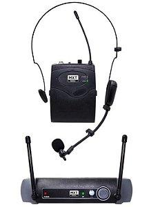 Mx Microfone Uhf Sem Fio Headset Lapela Uhf-10bp